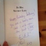 In His Secret Life Mel Bossa's New Book (Signed)