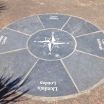 Aberdovey Beach compass