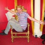 Madame Tussaunds Blackpool on a thrown