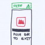 My Drawing - Fire Exit