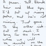 Writing - Something Lost
